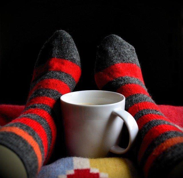 pruhované ponožky