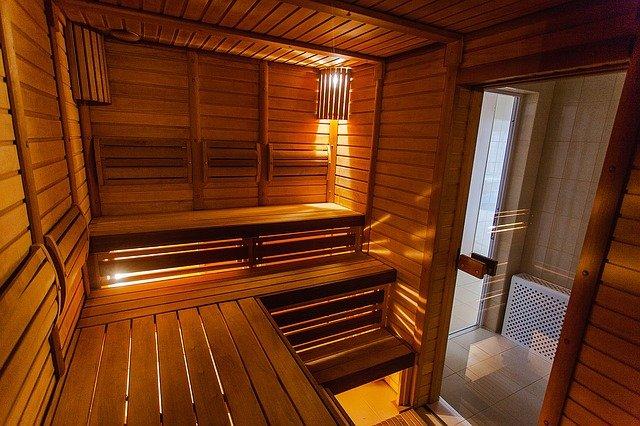 osvětlená sauna